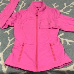 Lululemon fitted pink jacket size 2
